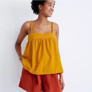 NWT MADEWELL Stitched Swing Tank Top